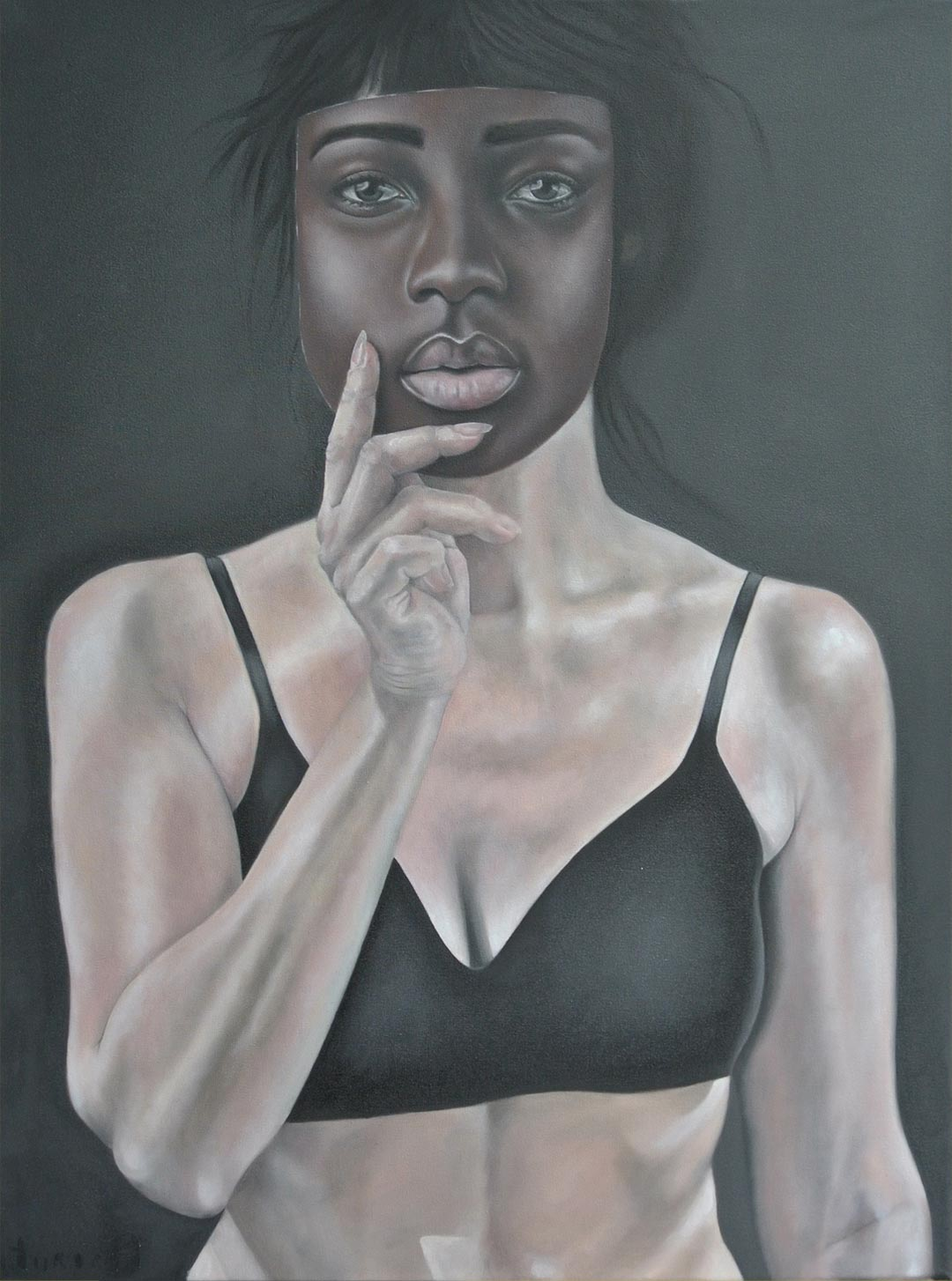 Silke Aurora, alike, oil on canvas, 60 x 60 cm