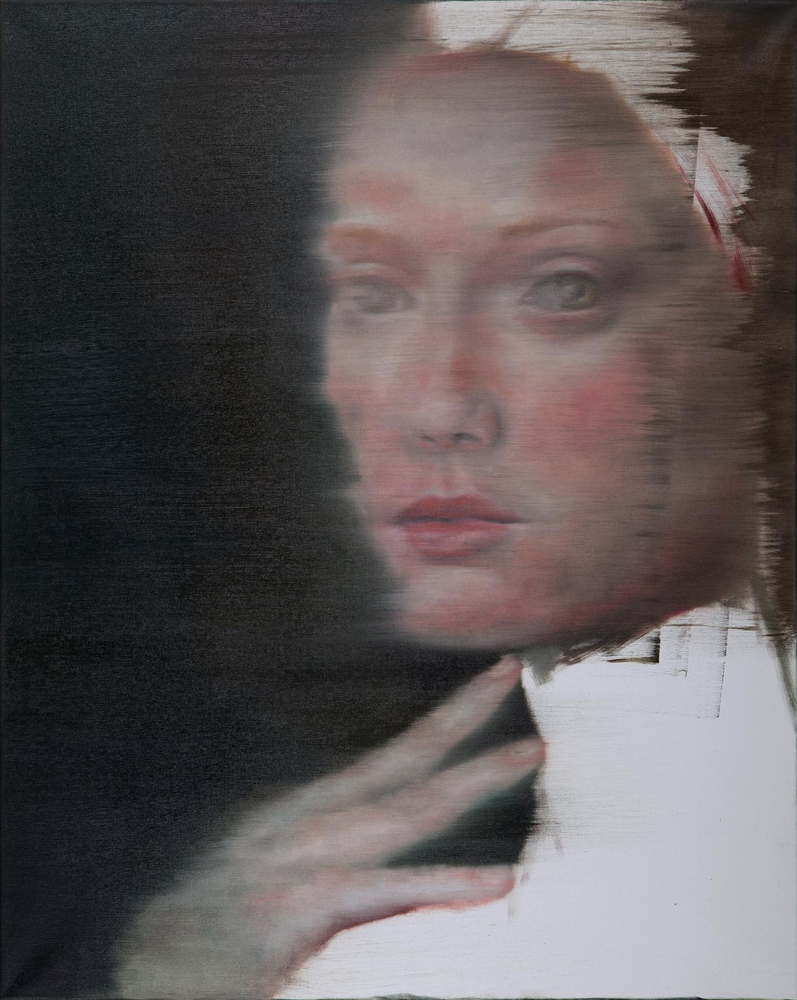 Silke Aurora, Layers of being, oil on canvas, 100 x 80 cm