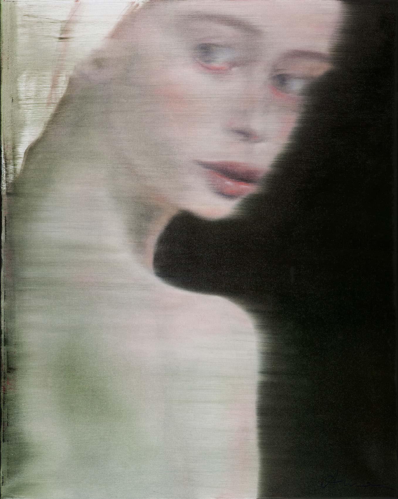 Silke Aurora, Layers of sensation, oil on canvas, 100 x 80 cm