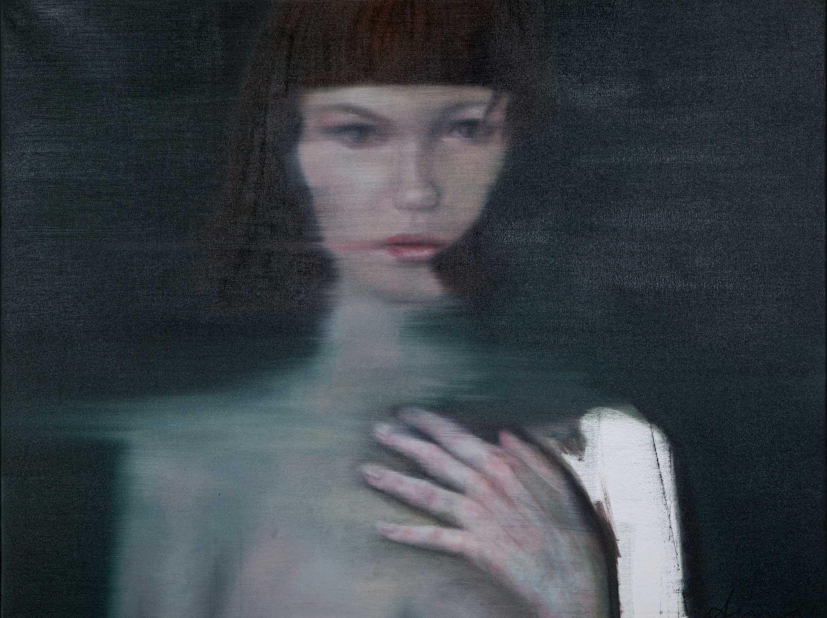 Silke Aurora, Layers of wisdom, oil on canvas, 80 x 100 cm