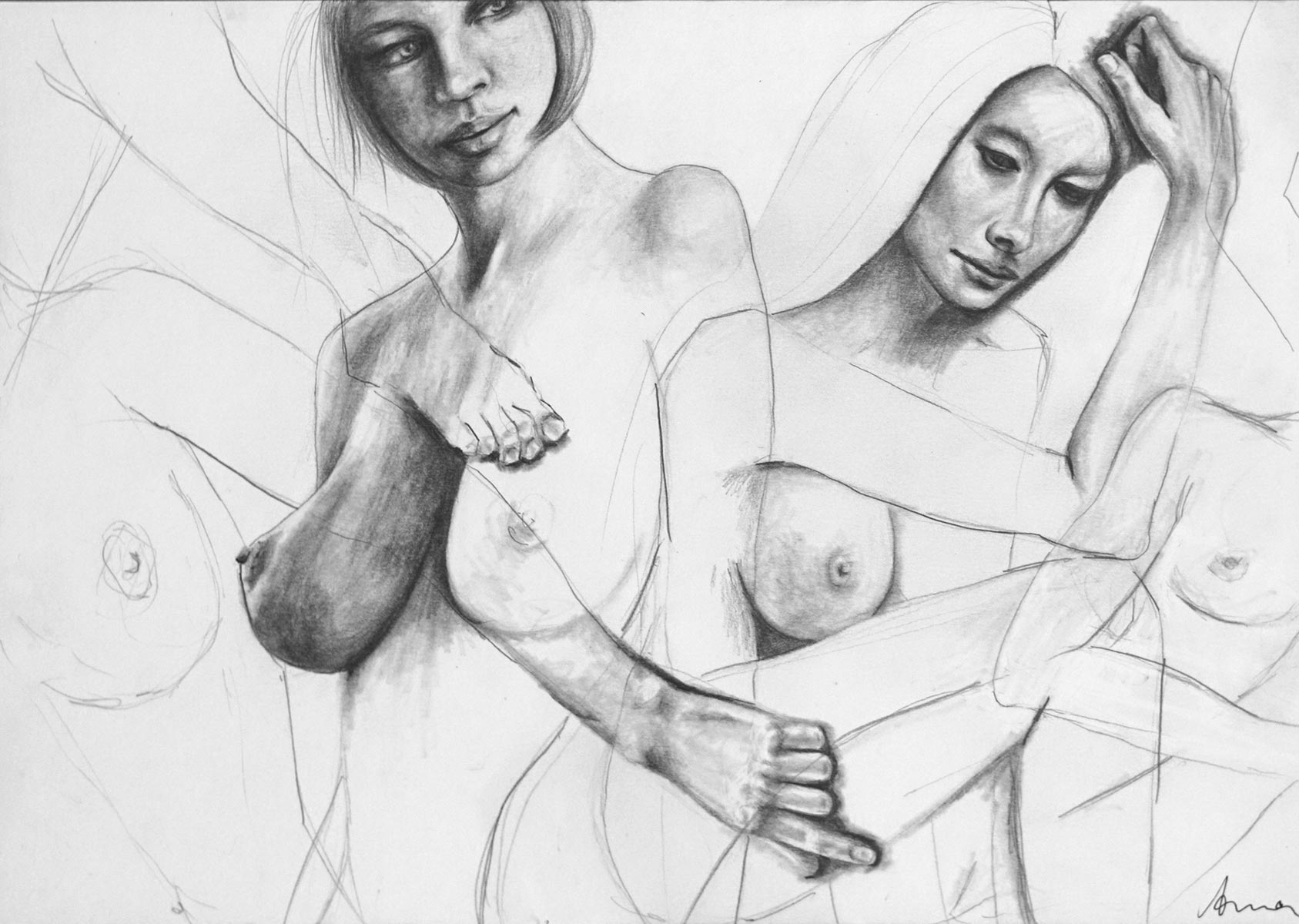 Silke Aurora, The ease of being D, drawing, 30 x 40 cm