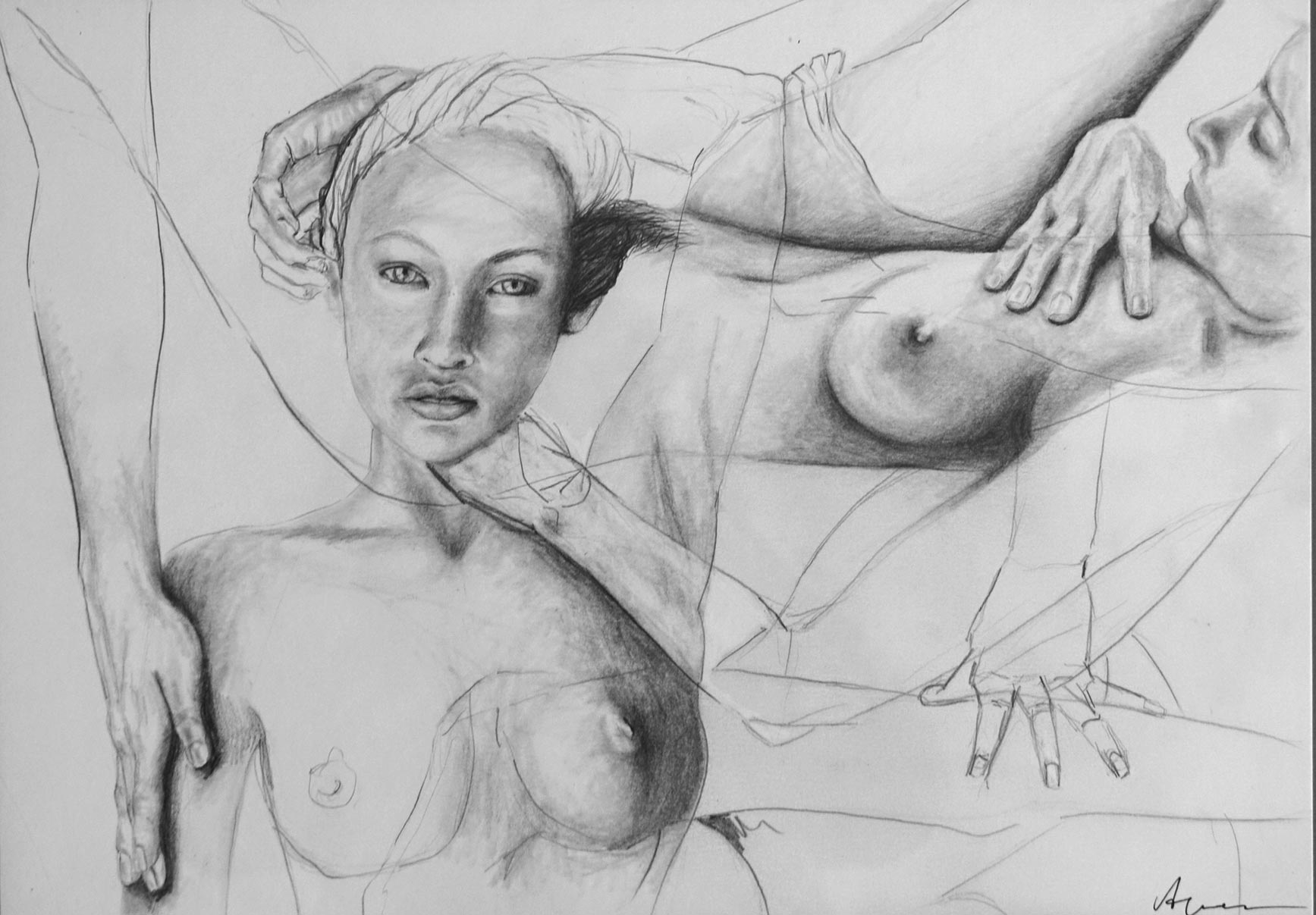 Silke Aurora, The ease of being E, drawing, 30 x 40 cm
