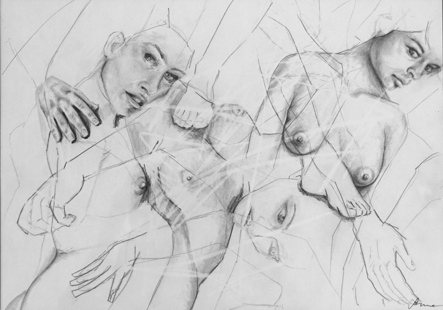 Silke Aurora, The ease of being F, drawing, 30 x 40 cm