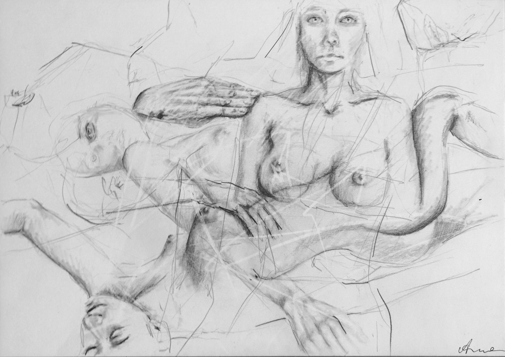 Silke Aurora, The ease of being G, drawing, 30 x 40 cm