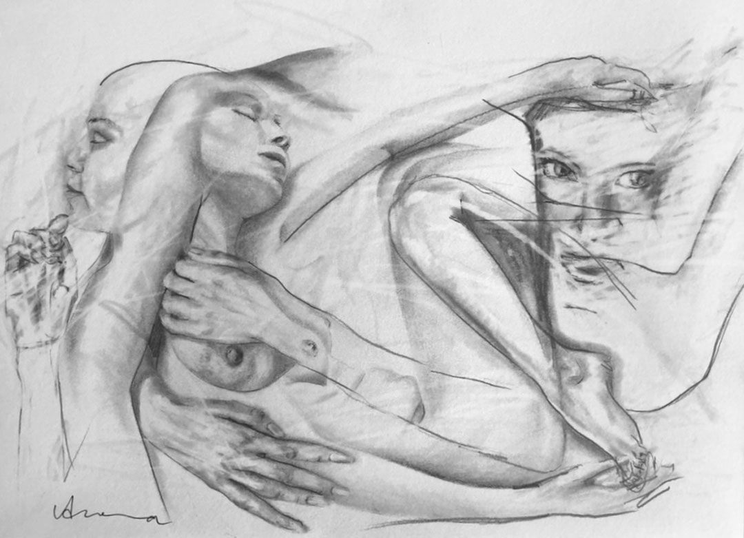 Silke Aurora, The ease of being C, drawing, 20 x 30 cm